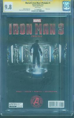 Iron Man 3 Prelude 1 CGC SS 9.8 Stan Lee Photo Cover Avengers Infinity War Movie