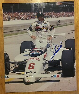 MARIO ANDRETTI Signed Autographed NASCAR F1 CAR Racing 8x10 Photo w/COA
