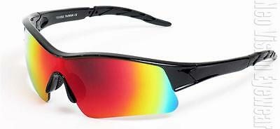 Sports Wrap Safety Glasses Z87+ Motorcycle Sunglasses Mirrored Lens 563