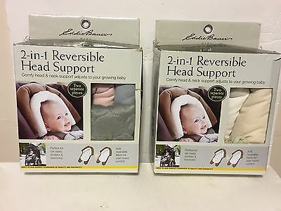 2 Infant Eddie Bauer 2 in 1 Reversible Head Support for babies