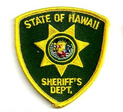 STATE OF HAWAII SHERIFFS DEPARTMENT - POCKET/HAT SIZE - IRON or SEW-ON PATCH