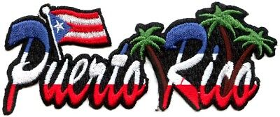 PUERTO RICO - PALM TREES - IRON or SEW ON PATCH