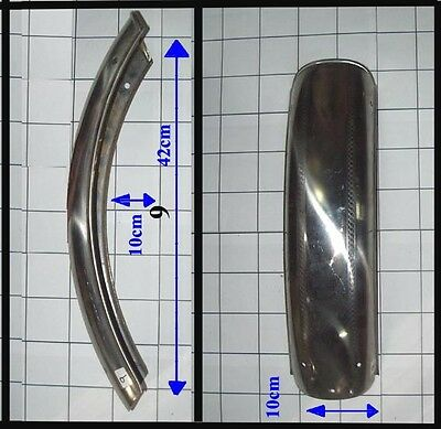 Motorcycle stainless steel Fender front  No 9 10cm x 42cm x 10cm