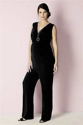 Next Size 12 Maternity Crepe Feel Stretch Jumpsuit Bnwt New In Rrp £69