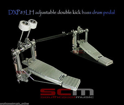 Left Hand Double Kick Bass Pedal Fast Chain Drive Dxp 85Lh 2 Year Warranty New!