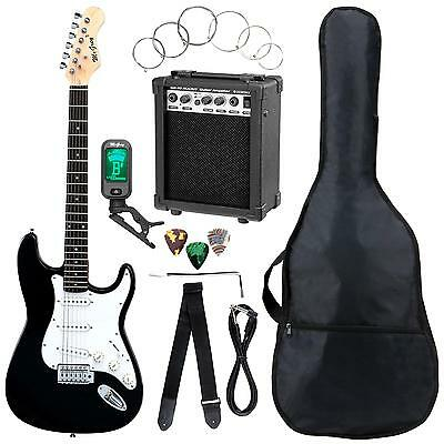 Electric Guitar Package 10W Amplifier Clip Tuner Strap Cable Bag Picks Strings