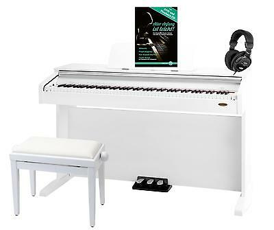 Professional Digital Electric Piano E-Piano 88 Keys Bench Headphones Aux Usb Set