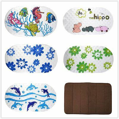 Anti-Slip PVC Bath Mat Bathroom Safety Carpet Bath Shower Floor Cushion Rug F5