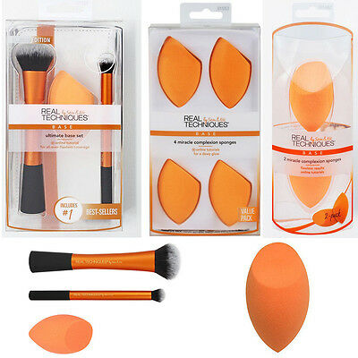 Real Techniques Miracle Complexion Sponge Makeup Beauty Sponges Brushes Set Kit