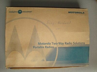 Motorola GP328 VHF Radio, Charger and Headset Complete with box Working