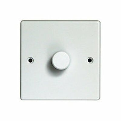 Alto Dimmer Light Switch Standard White Finish 1 Gang 1 Way 250W 1G1W Plate Led