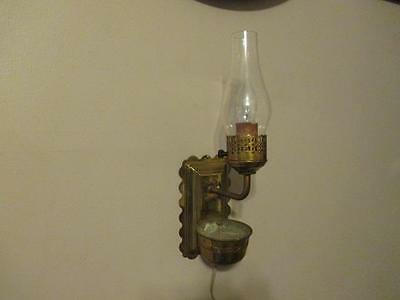 Vintage Brass Wall Sconce Light Fixture with Chimney - Font Planter