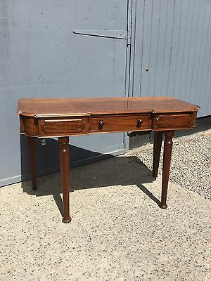 Antique Victorian Console Style Table With Drawer Under