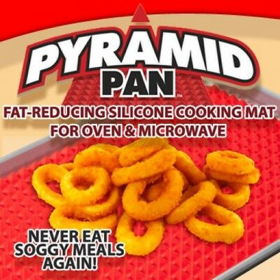 Pyramid (Pyramat) Pan - Fat Reducing Non Stick Silicone Oven Cooking Mat