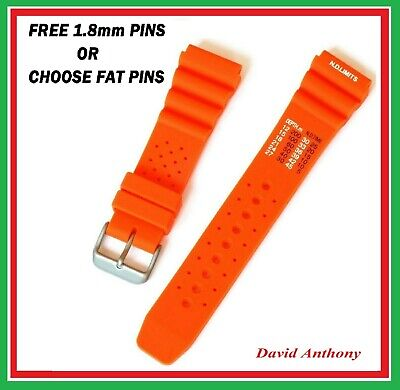20Mm & 22Mm Orange Nd Time, N.d. Limits Divers Watch Strap. Polyurethane Rubber