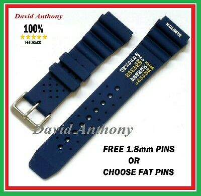 20Mm 22Mm 24Mm Blue Nd Time N.d. Limits Divers Watch Strap Polyurethane Rubber