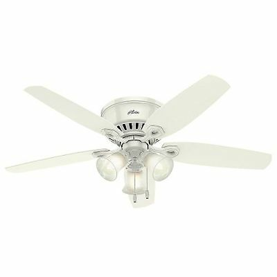 """Hunter 53326 52"""" Indoor Ceiling Fan - 5 Reversible Blades and Light Kit Included"""