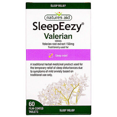 Natures Aid SleepEezy® 150mg 60 Tablets Strong Natural Herbal Sleep Aid Pills