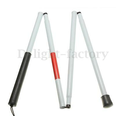 Visually Impaired Folding Crutch Cane Blind Guide support Walking Stick Walker