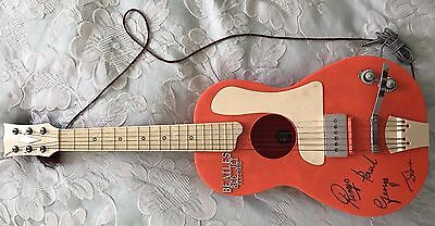 1963 The Beatles Rare Red Jet Electric Guitar Made By Selcol