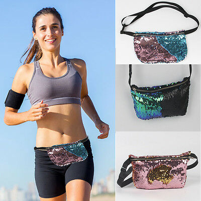 Outdoor Sports Jogging Running Waist Pack Sequins Unisex Chest Bag Backpacks Lot