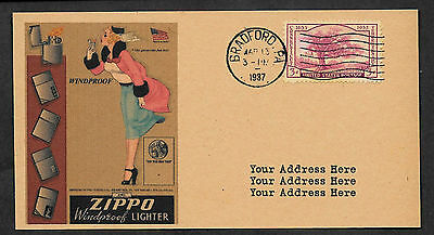 Personalized 1937 Zippo Lighters Advertisement Postcard Reprint *029