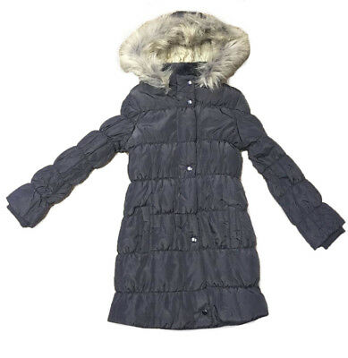 Marks and Spencer Girls Padded Coat Jacket in Charcoal Age 5 - 14 Years