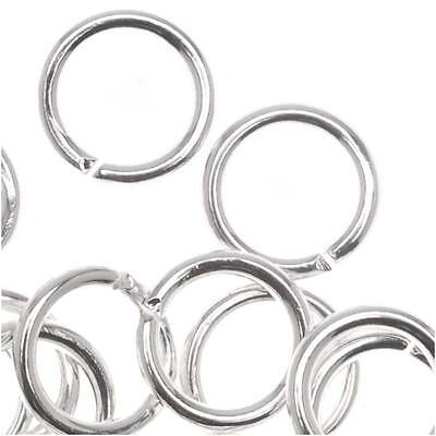 Silver Plated Open 7mm Jump Rings 18 Gauge (50)