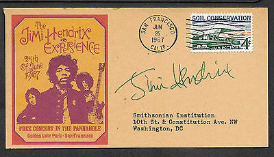 Personalized Jimi Hendrix Experience Autograph 1967 Reprint Postcard *044