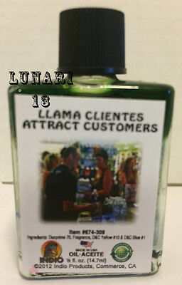 Attract Customers, Llama Clientes, Oil, Indio Products, 1/2 oz, Lunari13, Wicca
