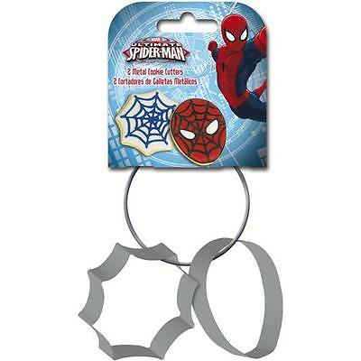 Spiderman - Web And Head Aluminium Cookie Cutter Set - New & Official Marvel