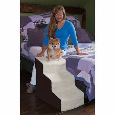 Pet Gear Deluxe Easy Steps III Dog Cat Pet 3 Step Stair Chocolate up to 150 lbs