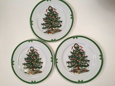 Georges Briard Yule Tide Dinner Plates Vintage Mid Century Christmas Lot of 3