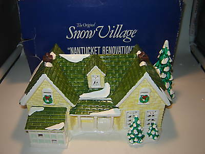 Dept 56 Snow Village - Nantucket Renovation House