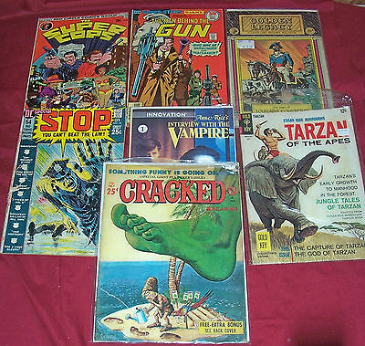 7 Old Comics Comic Books Vintage DC Special Tarzan Book Big Lot Collection