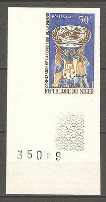 1967 NIGER #203 WOMEN`S RIGHTS UN Imperf Proof MNH