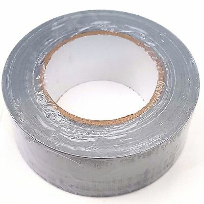 Strong Duct Gaffa Gaffer Waterproof Cloth Tape Silver Duck 50mm x 50m - 1 Roll