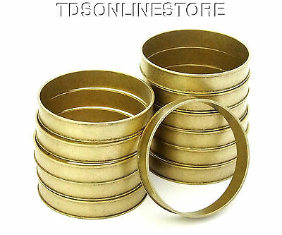 Raw Brass Channeled Bracelet Bangle Blanks 3/8 inch Pkg Of 12