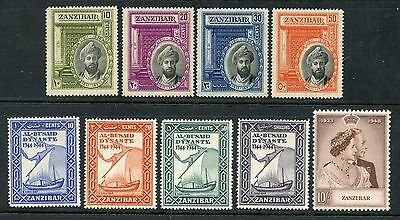 Weeda Zanzibar 214//225 VF MH 1936-49 issues, fresh & scarce. CV $84.25