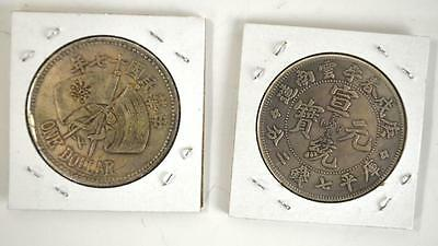 Two Chinese Silver Coins Lot 218
