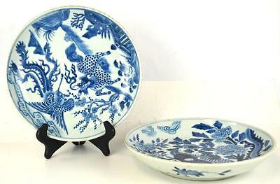 Two Chinese Blue and White Porcelain Plates Lot 37