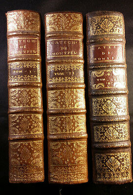 1719 Lot of 3 Books General Instruction of Catechism Volumes 1, 2 and 3