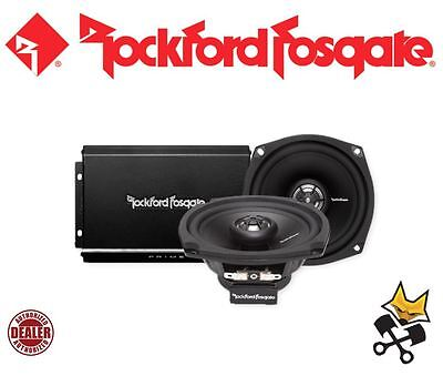 Rockford Fosgate Prime 140 Watt 2-Channel Speaker & Amp Kit Harley 98-'13 Fl