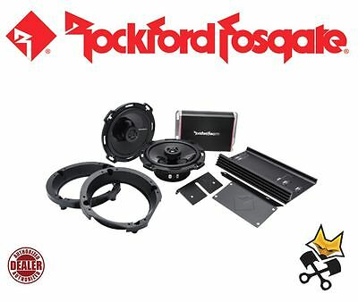 Rockford Fosgate Punch 300 Watt Front Speaker & Amp Kit Harley 98-'13 Flhx Fltr