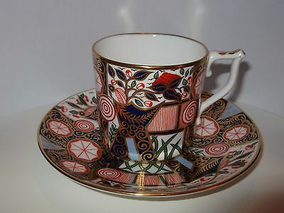 """Royal Crown Derby """"""""derby Garden"""" Coffee Cup And Saucer .curators Collection"""