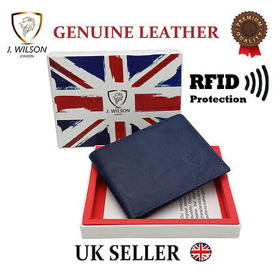 Designer Mens Wallet Leather RFID SAFE Contactless Card Blocking ID Protection