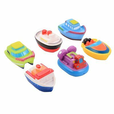 Acefun Floating Boat Squirting Bath Toy Rubber Baby Bath Toys 6-Piece