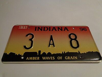 Indiana 1996 Graphic Vintage Low Number License Plate Car Tag Bartholomew Co 3A8
