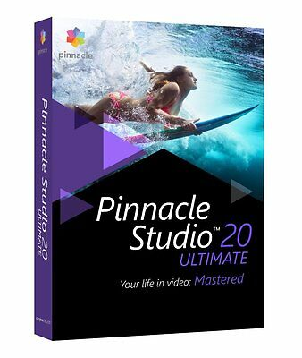 Pinnacle Studio 20 Ultimate Retail- Disc version-Sealed New Release Sealed