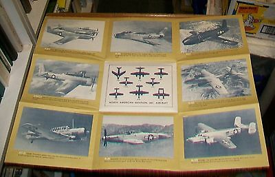 NORTH AMERICAN AVIATION AIRCRAFT FOLD OUT BROCHURE c1948